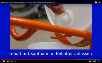 Plastiktonne: Öffnung und Dosierung Mit Zapfhahn
