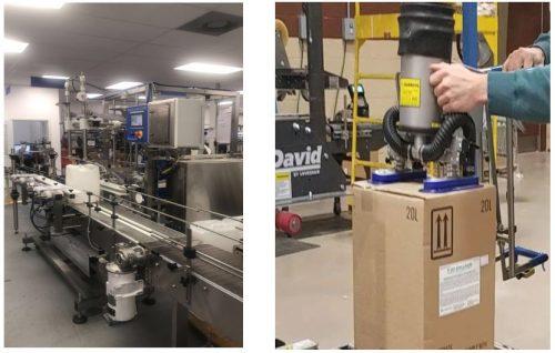 our 20-liter liquid filling line